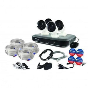 Swann CCTV System - 8 Channel 4K Ultra HD DVR with 4 x 4K Heat & Motion Sensing Cameras - Lintronics Group LTD
