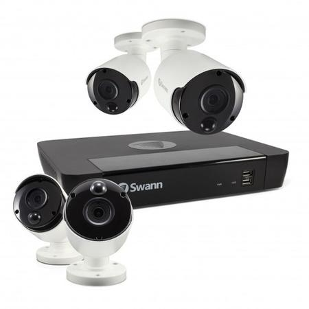 Swann CCTV System - 8 Channel 5MP NVR with 4 x 5MP Thermal Sensing Cameras - Lintronics Group LTD