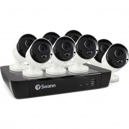 Swann CCTV System - 8 Channel 5MP NVR with 8 x 5MP Thermal Sensing Cameras - Lintronics Group LTD