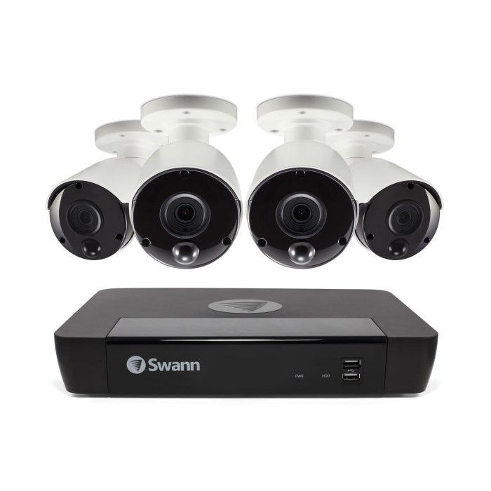 Swann CCTV System - 8 Channel 4K Ultra HD NVR with 4 x 4K Ultra HD Thermal Sensing Cameras - Lintronics Group LTD