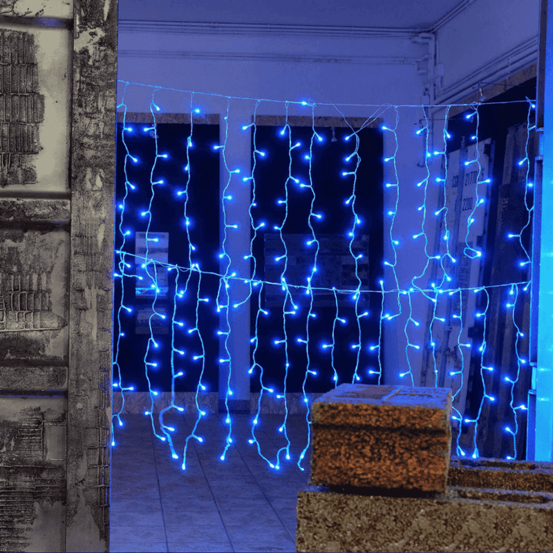 1.5m x 0.8m Smart App Controlled Twinkly Curtain Icicle lights - Lintronics Group LTD
