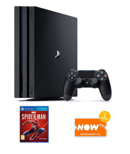 1TB PLAYSTATION 4 PRO WITH MARVEL'S SPIDER-MAN AND NOW TV - Lintronics Group LTD