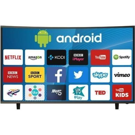 "electriQ 49"" Curved 4K Ultra HD HDR LED Android Smart TV - Lintronics Group LTD"