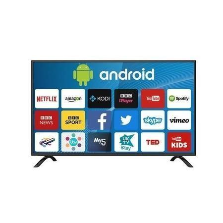 "electriQ 43"" 4K Ultra HD HDR LED Android Smart TV with Freeview HD - Lintronics Group LTD"