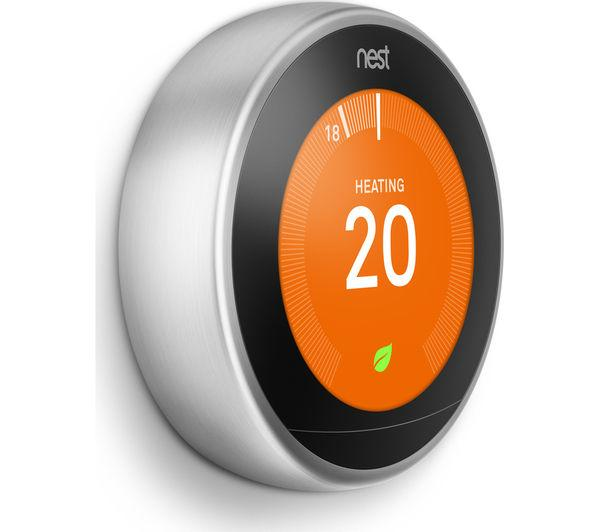 NEST Learning Thermostat - 3rd Generation, Silver - Lintronics Group LTD