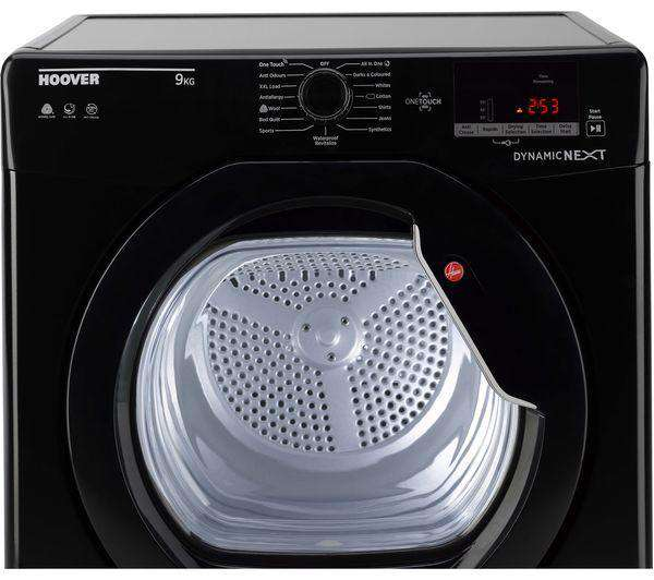 HOOVER Dynamic Next DX C9DGB NFC 9 kg Condenser Tumble Dryer - Black - Lintronics Group LTD