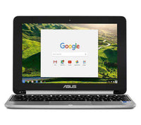 "ASUS C101 10.1"" 2 in 1 Chromebook - Silver - Lintronics Group LTD"