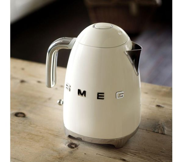 SMEG KLF03CRUK Jug Kettle - Cream - Lintronics Group LTD
