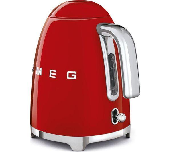 SMEG KLF03CRUK Jug Kettle - Red - Lintronics Group LTD