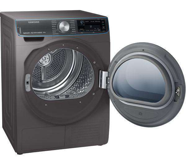 SAMSUNG DV90N8288AX Smart 9 kg Heat Pump Tumble Dryer - Graphite - Lintronics Group LTD