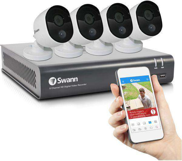 SWANN SWDVK-845804 8-Channel Full HD 1080p Smart Security System - 4 Camera CCTV - Lintronics Group LTD