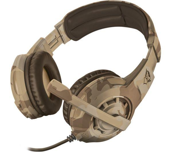 TRUST GXT 310D Radius Gaming Headset - Desert Camouflage - Lintronics Group LTD