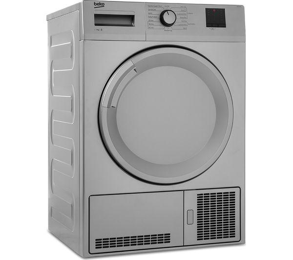 BEKO DTBC7001S 7 kg Condenser Tumble Dryer - Silver - Lintronics Group LTD