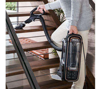 SHARK DuoClean Powered Lift-Away AX950UKT Upright Bagless Vacuum Cleaner - Rose & Grey - Lintronics Group LTD