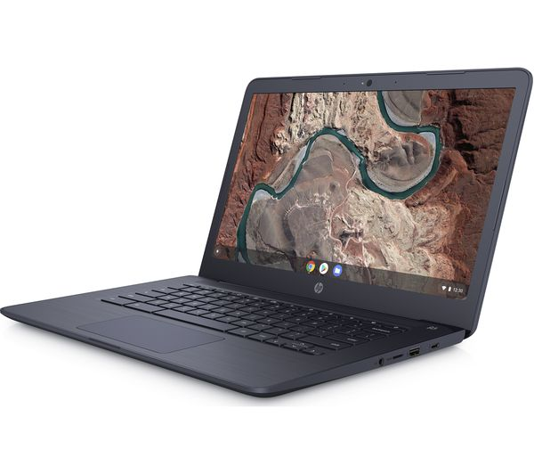 "HP 14-db0500sa 14"" AMD A4 Chromebook - 32 GB eMMC, Blue - Lintronics Group LTD"
