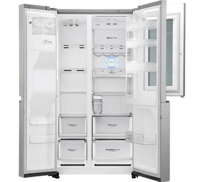LG Instaview Smart Fridge Freezer - Steel - Lintronics Group LTD