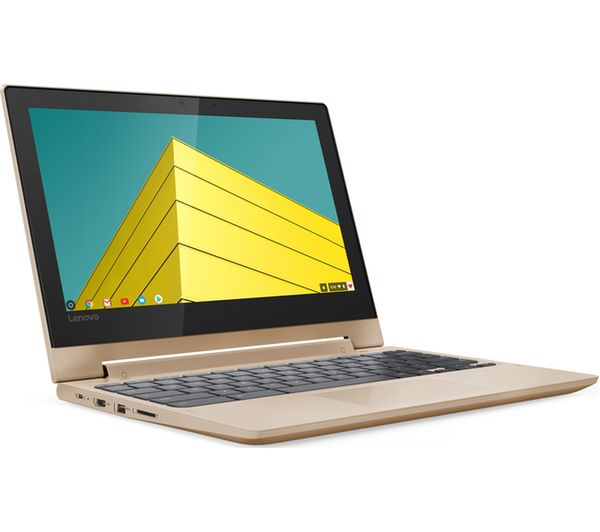 "LENOVO C330 11.6"" MediaTek Chromebook - 32 GB eMMC, Gold - Lintronics Group LTD"