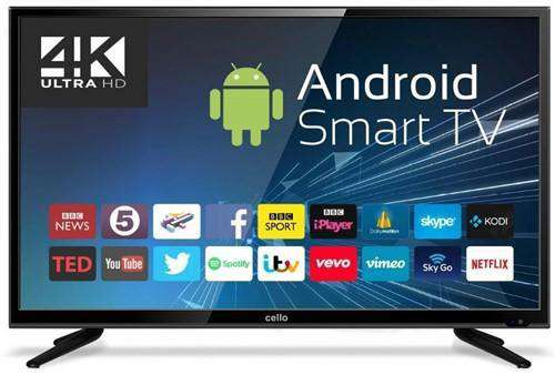 Cello C50ANSMT-4K 50 Inch Android Smart 4K Ultra HD LED TV with Wi-Fi and Freeview T2 HD - Lintronics Group LTD