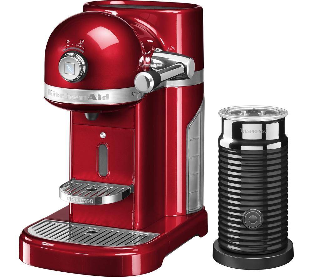 NESPRESSO by KitchenAid Artisan 5KES0504BCA Coffee Machine with Aeroccino 3 - Lintronics Group LTD