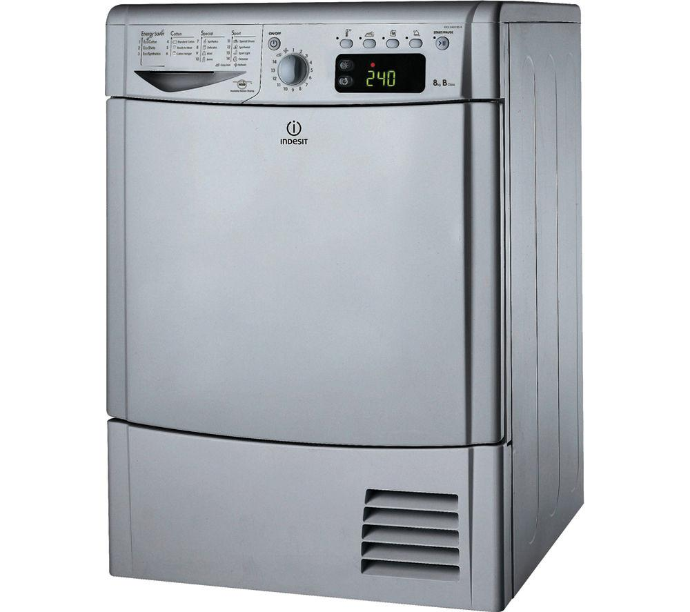 INDESIT IDCE8450BS Condenser Tumble Dryer - Silver - Lintronics Group LTD