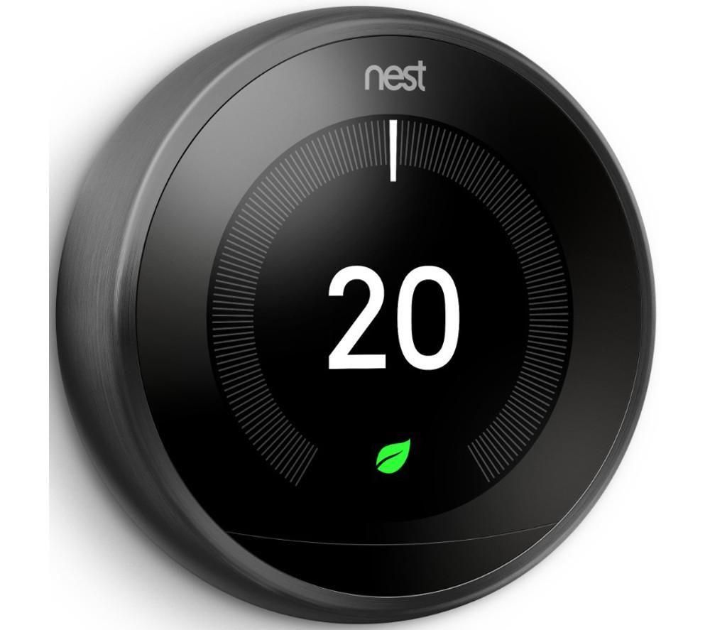 NEST Learning Thermostat - 3rd Generation, Black - Lintronics Group LTD