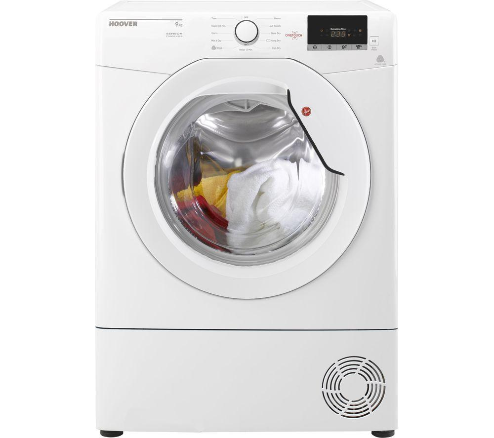 HOOVER Dynamic Next DX C9DG NFC 9 kg Condenser Tumble Dryer - White - Lintronics Group LTD