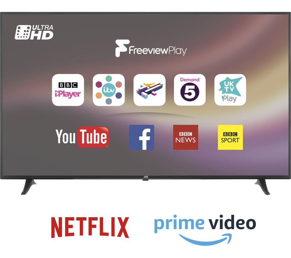 "JVC 65"" Smart 4K Ultra HD HDR LED TV - Lintronics Group LTD"