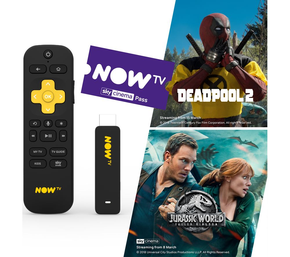 NOW TV Smart Stick with HD & Voice Search - 1 Month Cinema Pass - Lintronics Group LTD