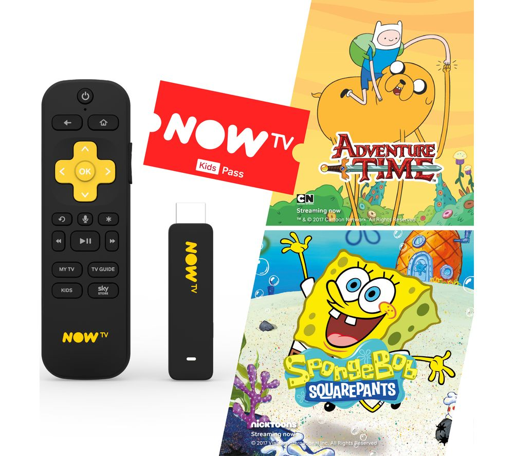 NOW TV Smart Stick with HD & Voice Search - 3 Month Kids Pass - Lintronics Group LTD