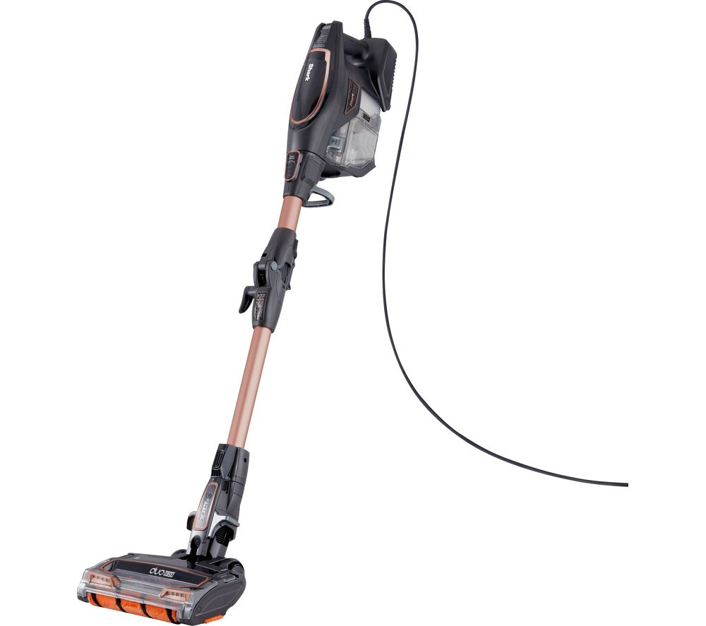 SHARK DuoClean with Flexology True Pet HV390UKT Bagless Vacuum Cleaner - Grey & Rose Gold - Lintronics Group LTD