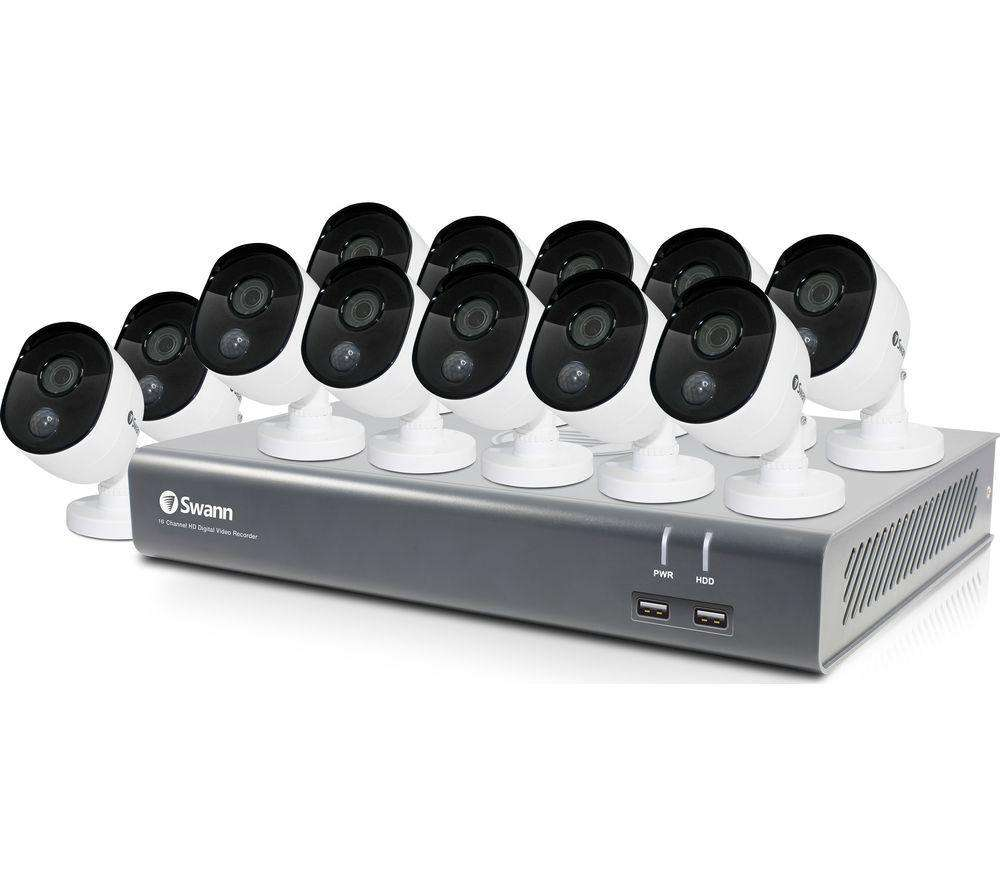 SWANN SODVK-1645812 16-Channel Full HD 1080p Security System - 12 Camera CCTV - Lintronics Group LTD