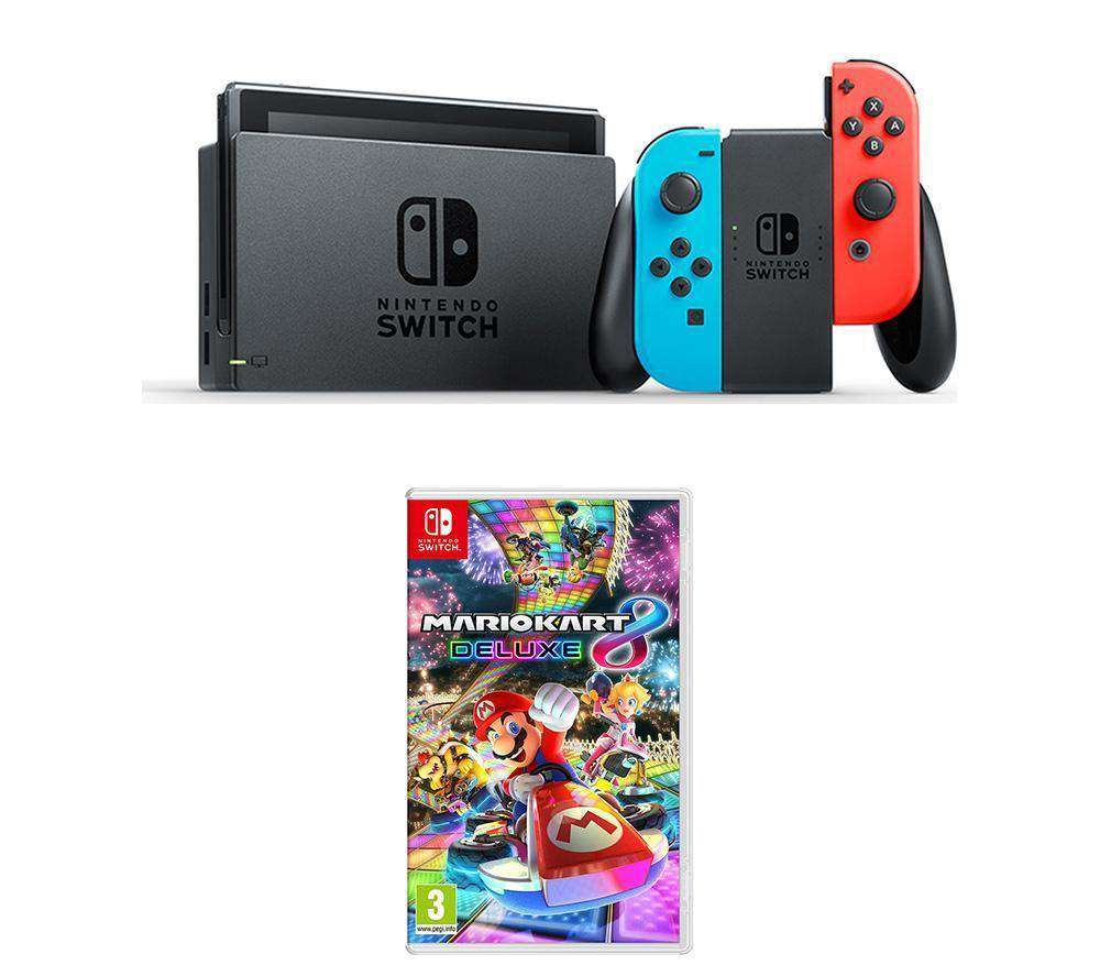 NINTENDO Switch & Mario Kart 8 Deluxe Bundle - Lintronics Group LTD