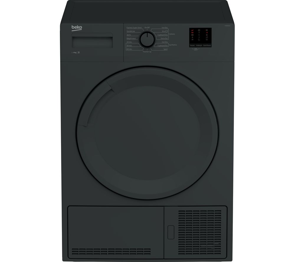 BEKO DTBC8001A 8 kg Condenser Tumble Dryer - Anthracite - Lintronics Group LTD