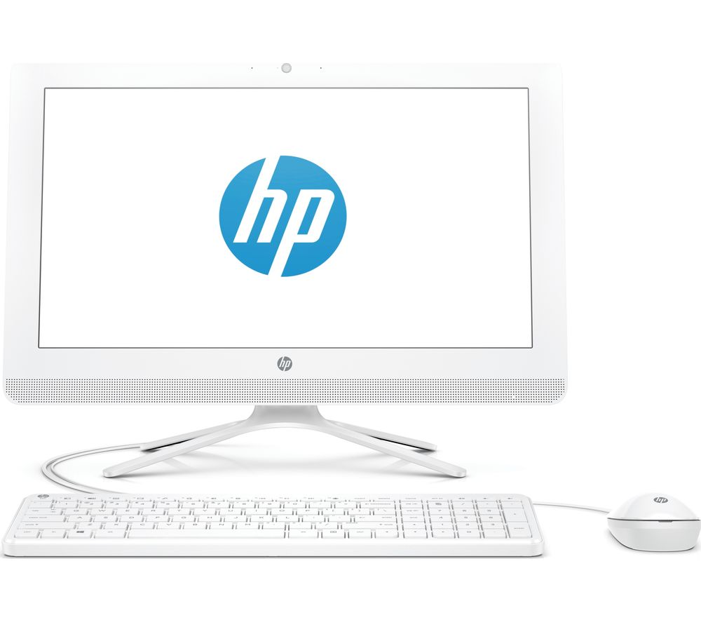 "HP 20-c402na 19.5"" Intel® Celeron® All-in-One PC - 1 TB HDD, White - Lintronics Group LTD"
