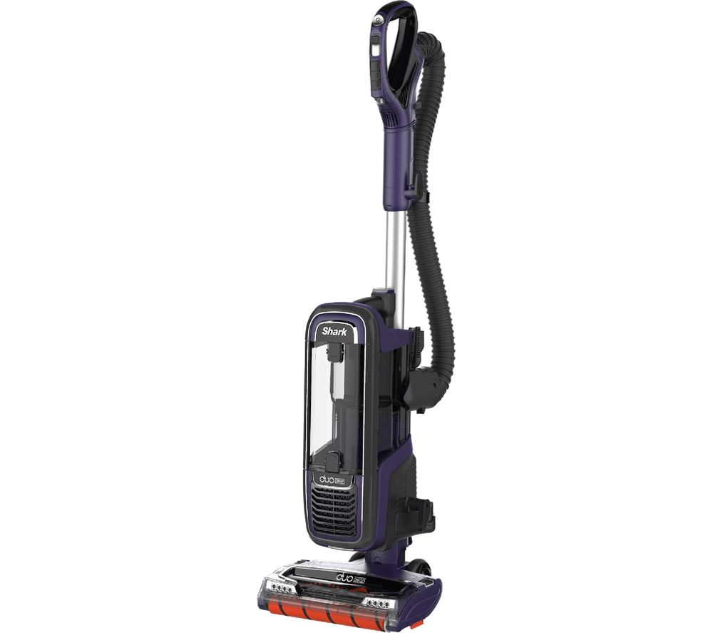 SHARK DuoClean Powered Lift-Away AX950UK Upright Bagless Vacuum Cleaner - Purple & Grey - Lintronics Group LTD