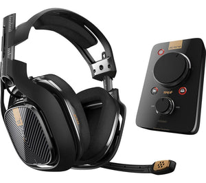 ASTRO A40TR Gaming Headset & MixAmp Pro TR Headset Amplifier - Black - Lintronics Group LTD