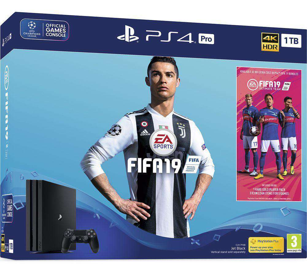 SONY PlayStation 4 Pro with FIFA 19 - 1 TB - Lintronics Group LTD