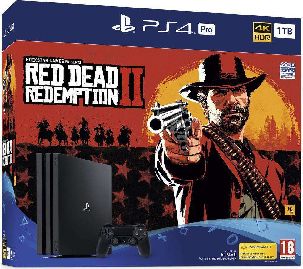 SONY PlayStation 4 Pro with Red Dead Redemption 2 - 1 TB - Lintronics Group LTD