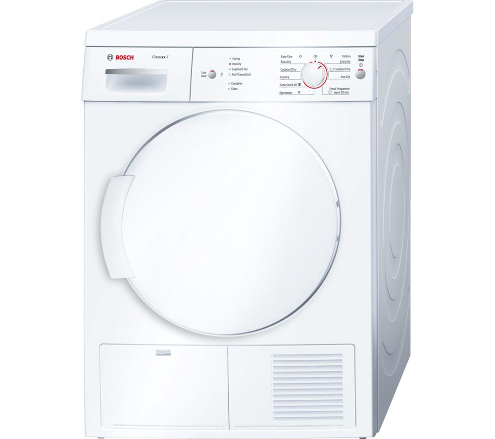 BOSCH Classixx 7 WTE84106GB Tumble Dryer - White - Lintronics Group LTD
