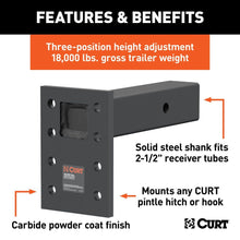 Load image into Gallery viewer, CURT™ Adjustable Pintle Mount / 48329