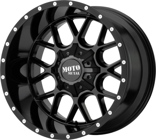 ARW Moto Metal 0986 Siege Gloss Black 20X9 8-180 0-MM / MO986290883A00