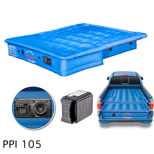 AirBedz® Original Truck Bed Air Mattress – 5'-5.5' Short Bed with Built-in Rechargeable Battery Air Pump / PPI-105
