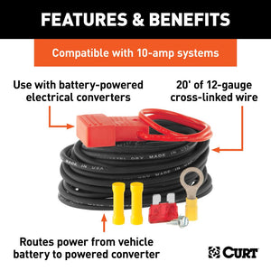 CURT™ Powered Converter Wiring Kit (10 amps) / 55151