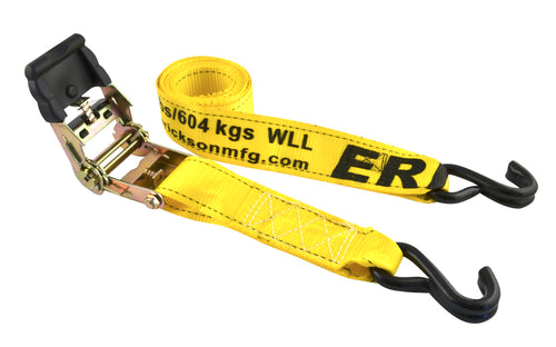 "Erickson 2"" x 10' Ratcheting Tie Downs (4000 Lbs.) 2-Pack / 34410"