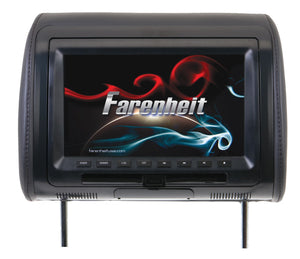 "Farenheit 9"" Universal Headrest Monitor with DVD Player"