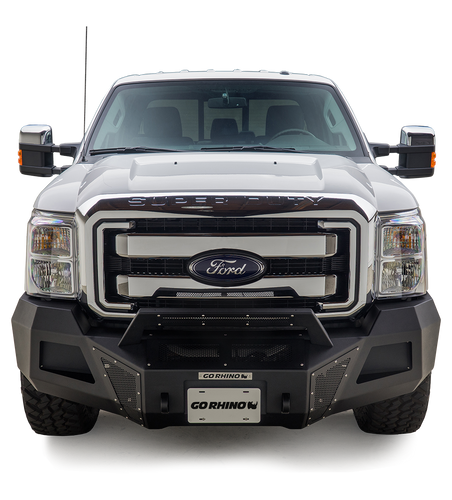 Go Rhino® BR10 Front Bumper for 2011-2016 Super Duty; Requires GOR-24273TW Winch Tray for Installation / 24371T