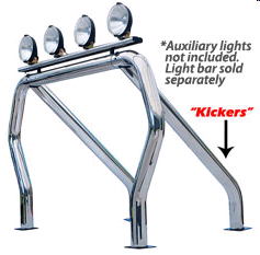 Go Rhino! Bed Bars - Pair of Kickers (Between Wheel Wells) | GOR-9530PS