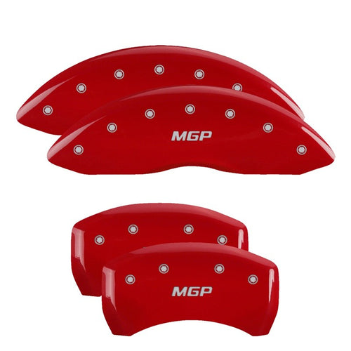 MGP Caliper Covers - 2011-2018 RT/ Challengers - Red, With MGP Logo / 12162SMGPRD