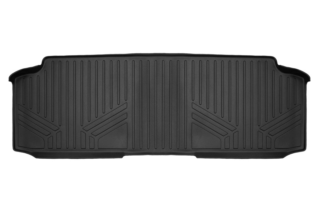 Maxliner Black Second Row Floor Liner - 2008-2020 Dodge Grand Caravan/ Chrysler Town and Country with Second Row Bench Seat black
