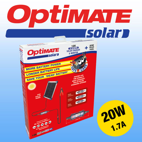 OptiMate Solar 20W Kit Battery Saving Charger / TM-522-2